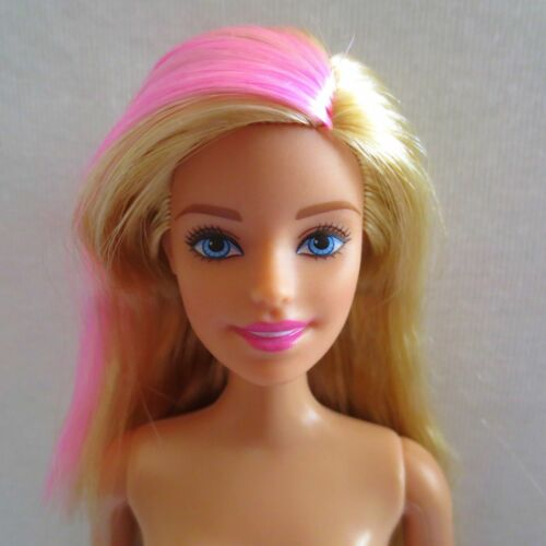 NEW! Barbie Halloween Fashionista Doll Blonde & Pink Hair Blue Eyes Nude