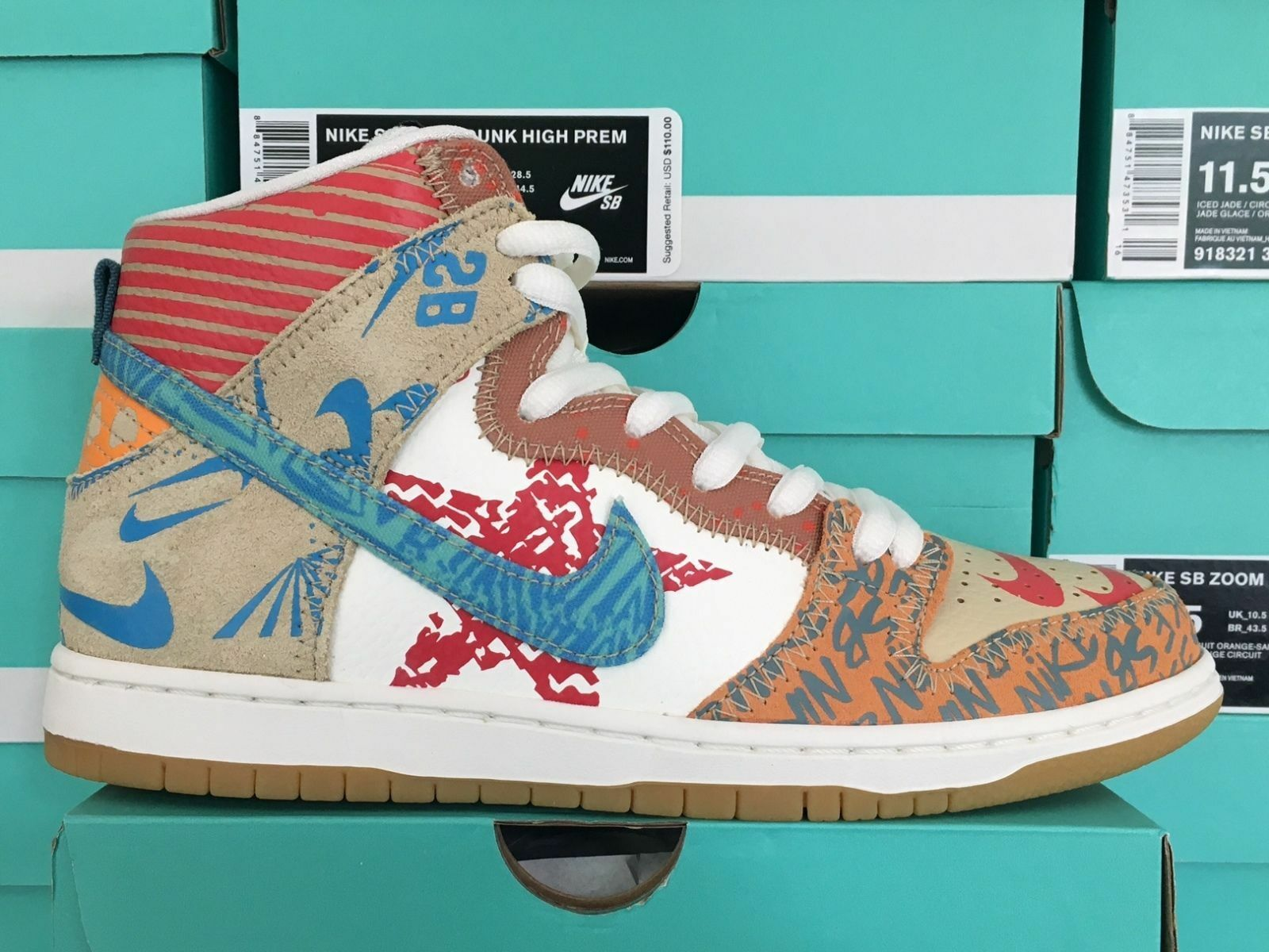 Nike SB ZOOM Dunk High What The Thomas Campbell Limited 918321-381 Ice Jade Sail