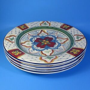 Tabletops-Unlimited-CORDOVA-Dinner-Plates-Set-of-4-Hand-Painted-Plate