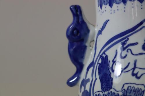 Chinesische Henkelvase Vase Kürbisvase Porzellan handbemalt RK132