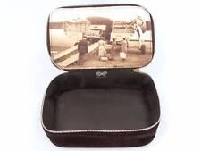Anya Hindmarch British Airways Travel Amenity Bag RARE Brown Velvet GREAT COND
