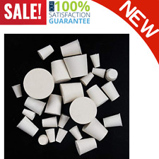 26 Pack Solid Rubber Stopper White Lab Plug 000 8 Sizes Assortment Heavy Duty
