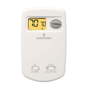 White Rodgers Wall Thermostat Heat Cool 24V Millivolt Battery Vertical 1E78-144