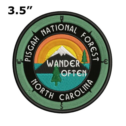 PISGAH National Forest Embroidered Patch Iron-On Sew-On Vacation Hike Trail