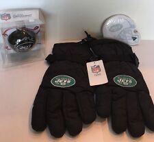 New York Jets Decorative Ornament Bulb & Winter Gloves & Sports Notes Sticky Pad
