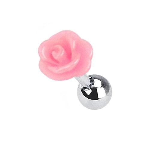 Tragus Piercing Stecker Rosen Blüte