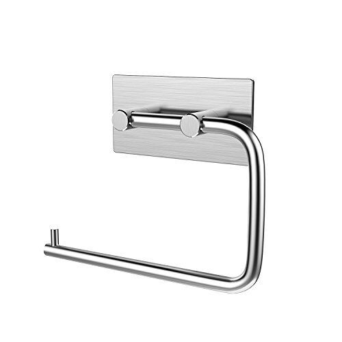 NEW KONE Stainless Steel Self Adhesive Toilet Paper Holder Stand Brushed