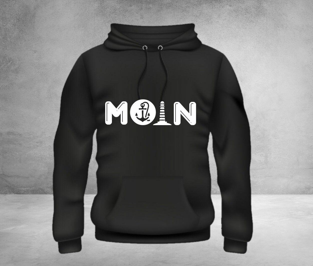 MOIN Hoodie Pullover Anker Kapuzen-Pullover Maritim Sylt Kiel Hamburg Bremen