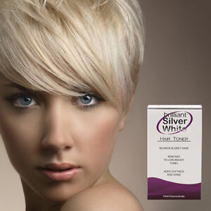 Brilliant Silver White Magic Hair Toner For Platinum