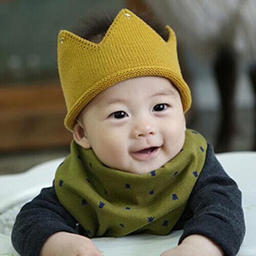 EE/_ Newborn Toddler Baby Boy Girls Sweet Soft Knit Crown Hat Cap Headwear Reliab