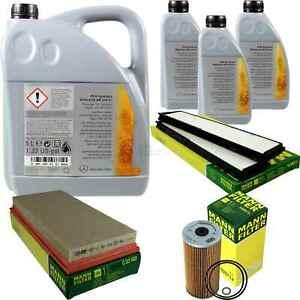 Inspection-Set-8L-Mercedes-Oil-229-51-5W30-Mann-Filter-11104919