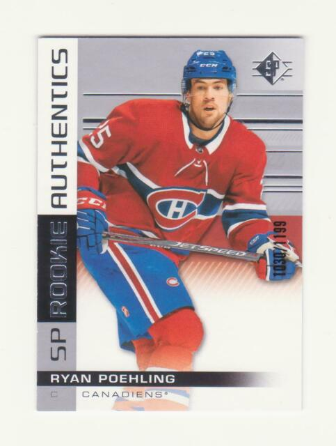 2019-20 UD SP Hockey Ryan Poehling Rookie Card # 1030/1199 (19-20) # 125