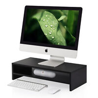 Fitueyes Computer Screen Riser Monitor Stand Desktop Stand Media Console Storage