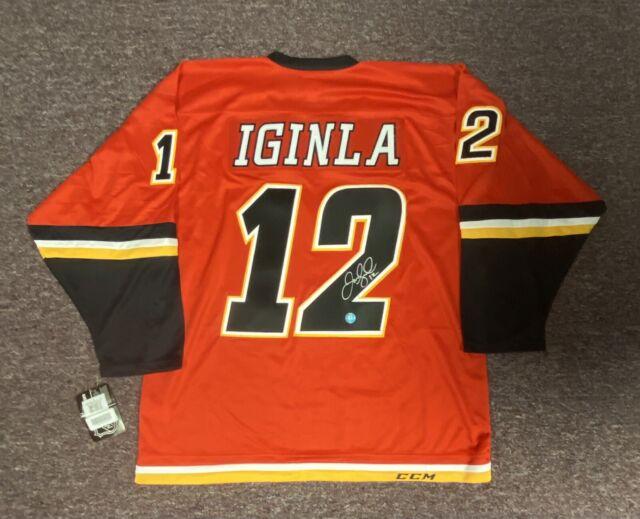 Jarome Iginla Autographed Calgary Flames Stictched Jersey w/ AJ's COA *SICK*