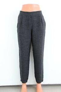 ropa deportiva de alto rendimiento recoger bajo costo Dettagli su Zara Gris Oscuro Holgado Elástico Mujer Pantalones TALLA S