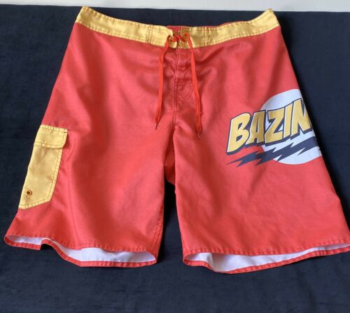 Men's Big Bang Theory Bazinga Board Shorts Swim Sh