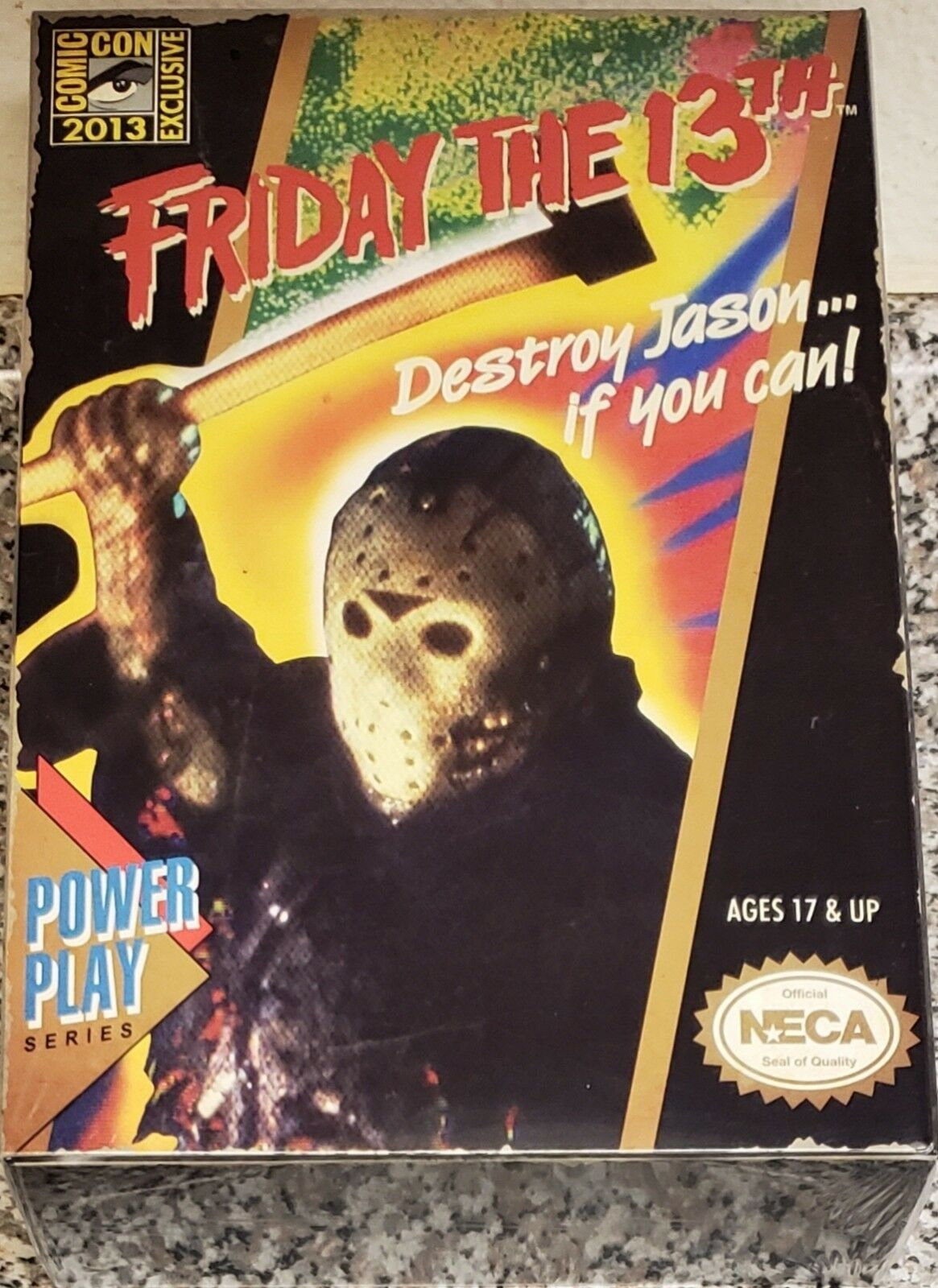 NECA 2013 SDCC EXCLUSIVE, FRIDAY THE 13TH JASON, POWER PLAY SERIES (NEW & RARE)