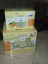 BABY BULLET 20 PIECE SET  & BABY BULLET STEAMER (SHIP WORLDWIDE CONVERTER REQ)