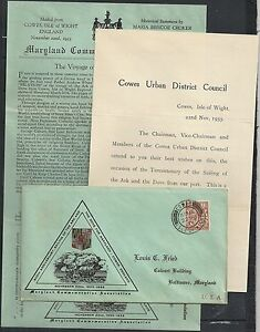 Great Britain 1933 special cover+letter Cowes/Isle of Whight