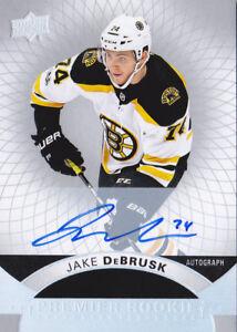 17-18-UD-Premier-Jake-DeBrusk-Auto-Rookie-SILVER-SPECTRUM-Bruins-2017