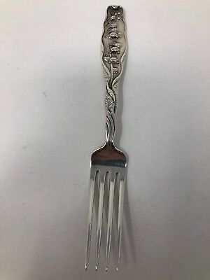 """w//Mono Whiting Lily of the Valley Sterling Silver Oval Soup Dessert Spoon 7/"""""""