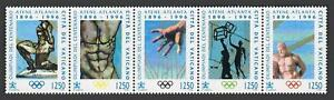Vatican 1011 strip,MNH.Mi 1174-1178. Modern Olympic Games,centenary,1996.