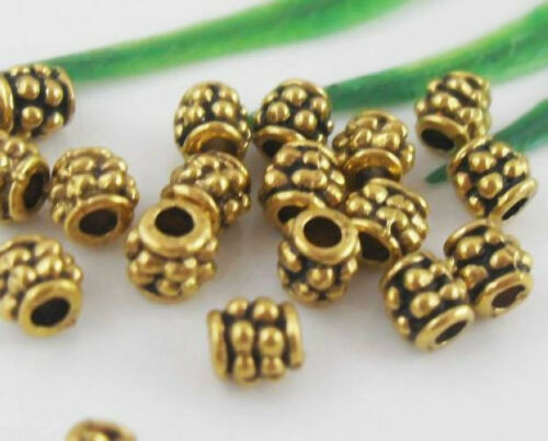 Wholesale 180//400Pcs Gold Plated Spacer Beads 4mm Lead-free