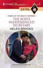 The Boss's Inexperienced Secretary, Brooks, Helen, 0373527330, Book, Good