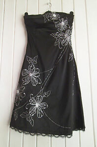 BNWOT-LADIES-LOVELY-BLACK-SATIN-EVENING-PARTY-DRESS-JANE-NORMAN-SIZE-8