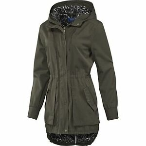 ADIDAS ORIGINALS WOMENS 'CAS WOVEN PARKA' FISHTAIL JACKET COAT ...