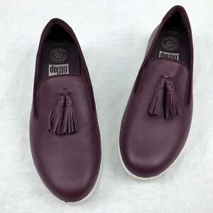 cacc02f9d Image is loading Fitflop-Women-039-s-Tassel-Superskate-Leather-Loafers-