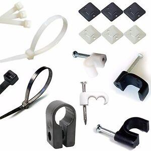 200 mm x 7.6 mm Nero Nylon Cavo Fascette per il fissaggio cavi e fili Cravatte GRATIS