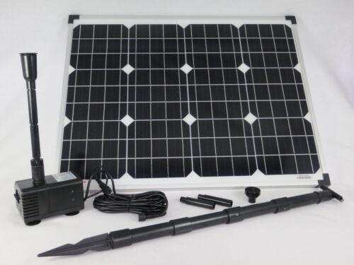 50 W Solarpumpe Teichpumpe Gartenteichpumpe Solar Bachlaufpumpe Pumpenset Pumpe
