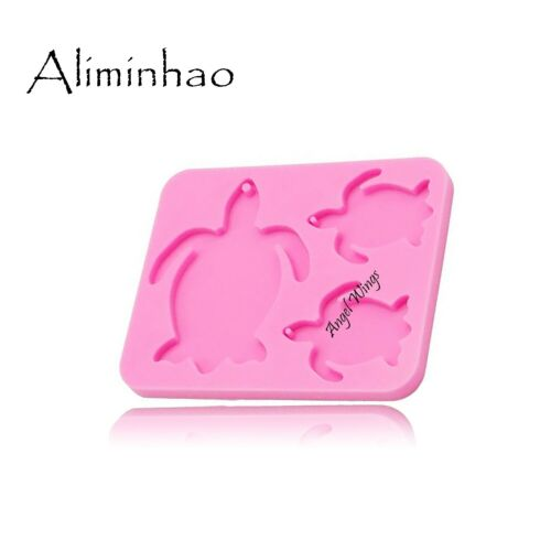 Turtle Family Silicone Mould Keychains Mold Clay DIY for Fashion Jewelry Making
