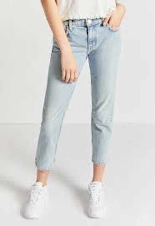 Current elliott the cropped straight jeans light indigo  NWT Sz.25
