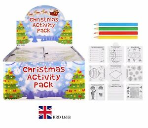 Kids CHRISTMAS ACTIVITY PACK Birthday Party Bag Filler Favors Loot Toy Gift UK