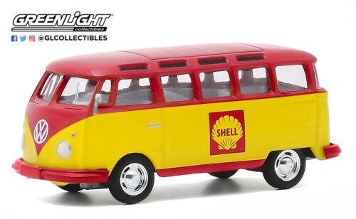 1:64 GreenLight *CLUB V-DUB 11* SHELL OIL 1964 Volkswagen VW Samba Bus NIP