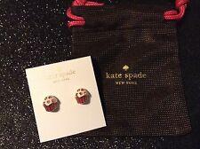 Kate Spade Take The Cake Cupcake studs post earrings New