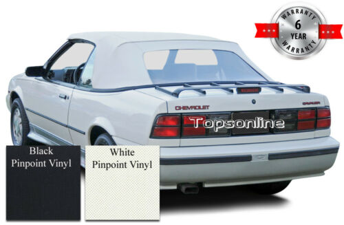 Cavalier /& Sunbird Convertible Soft Top With Plastic Window /& Video Vinyl 88-92