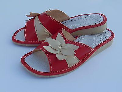 Zapatillas de cuero señoras * producto hecho a mano de la UE * Tamaño 3,4,5,6,7,8