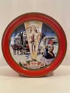 "1996 DeLux Fruitcake Tin Collin Street Bakery Corsicana Texas USA 100 Years 9.5"""