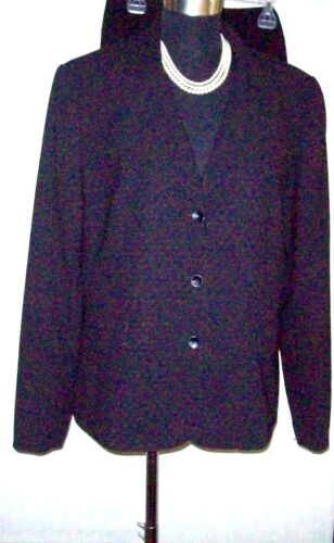 John Rosso Skirt Casual Dress Jacket 16 a Meyer matita pieghe Suit Sz Nero FrfqFw4n