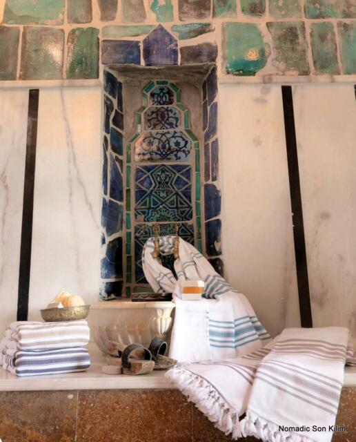 Extra large beach towel (Turkish peshtemal & terry)  - 100% cotton - QUALITY