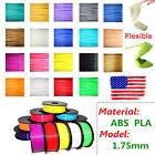 3D Printer Filament 1.75mm ABS/PLA 1kg2.2lb Premium Print Material Color Opt USA