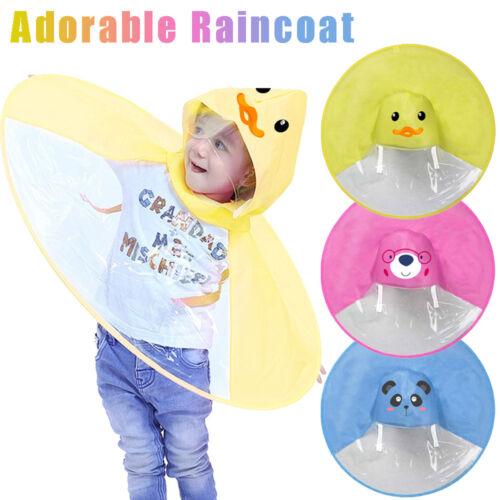 Faltbar Cute Cartoon UFO Rain Coat Kinder Umbrella Hat Magical Hands Regenjacke
