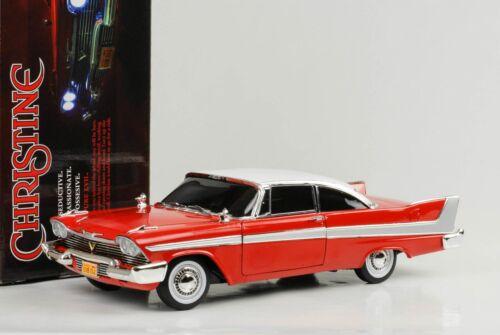 1958 Plymouth Fury Christine mit Lichtfunktion 1:18 Auto World dark window