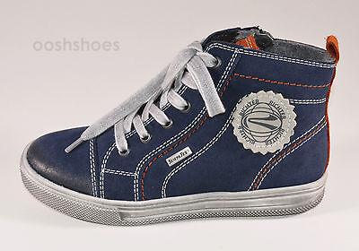 Richter Boys Blue SymaTex Waterproof Suede Zip & Lace Boots UK 1 EU 33 RRP £59