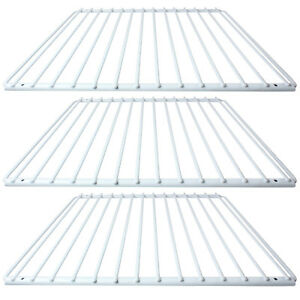 3 x daewoo fridge shelf white plastic coated adjustable freezer rack rh ebay co uk  daewoo fridge freezer shelves