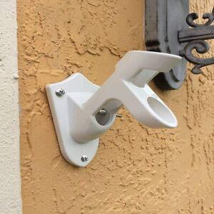 Aluminum-Wall-Mount-Flag-Pole-Holder-Bracket-Portable-Adjustable-For-Flags
