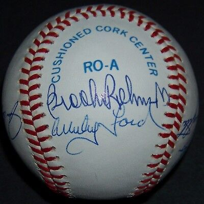 whitey ford catfish hunter brooks robinson bob feller signed baseball ar loa ebay. Black Bedroom Furniture Sets. Home Design Ideas